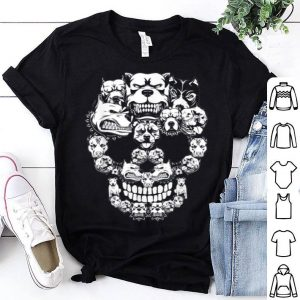 Awesome Pitbull Dog Halloween Skull Costumes Gift shirt