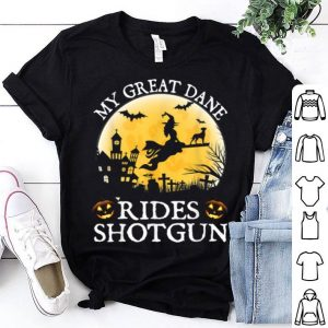 Belgian Great Dane Rides Shotgun Halloween Costume shirt