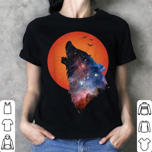 Full Moon Werewolf Howling Wolf Horror Halloween shirt
