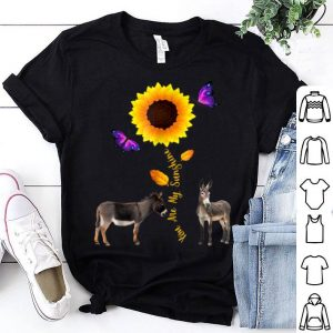 Funny Donkey You Are My Sunshine Sunflower Lovers shirt