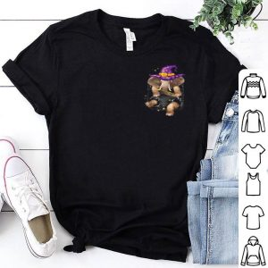 Funny Elephant Witch In Pocket-elephant Halloween shirt
