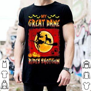 Funny My Great Dane Rides Shotgun Halloween Gift shirt