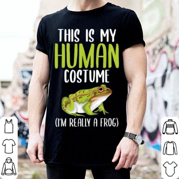 Halloween Funny Adult Kid Frog Apparel, Youth Human Costume shirt