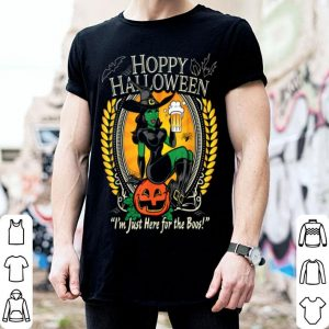 Hoppy Halloween Just Here For The Boos Beer Witch Server shirt