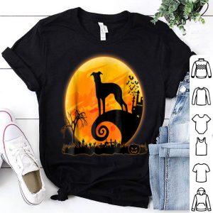 Hot Italian Greyhound Dog And Moon Funny Halloween shirt