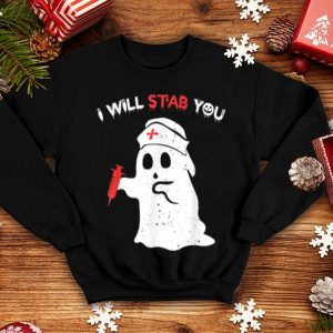 I Will Stab You Funny Halloween Costume For Nurses shirt