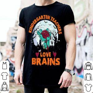 Kindergarten Teachers Love Brains Halloween shirt