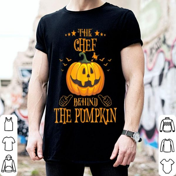 Mens The Chef Behind The Pumpkin Funny Halloween shirt