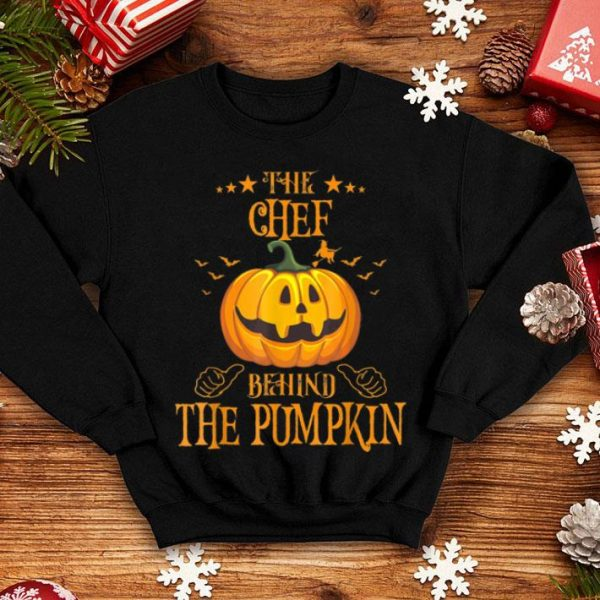 Mens The Chef Behind The Pumpkin Funny Halloween shirt