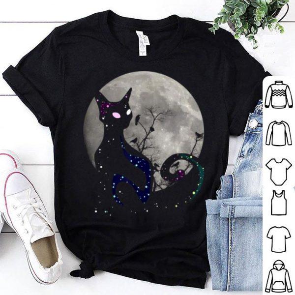 Nice Halloween Cat Scary Black Cat Gothic Looking Halloween Cat shirt