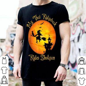 Nice Thai Ridgeback Rides Shotgun Dog Lover Halloween Party shirt