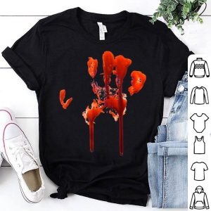Official Happy Halloween Bloody Hand Print Costume - Gag Gift shirt