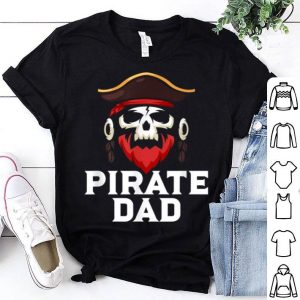Pirate Dad Skull Captain Boating Halloween For Fathers shirt
