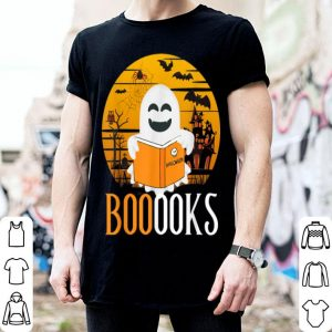 Premium Booooks Ghost Reading Books Funny Teacher Halloween Costume shirt