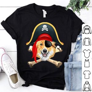 Premium Corgi Jolly Roger Pirate Funny Corgi Halloween Costume shirt