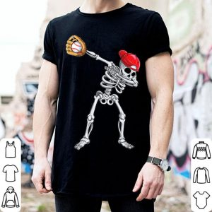 Premium Dabbing Skeleton Baseball Halloween Boys Kids Men shirt