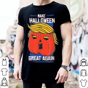 President Trump Halloween Pumpkin Make Halloween Great Again shirt