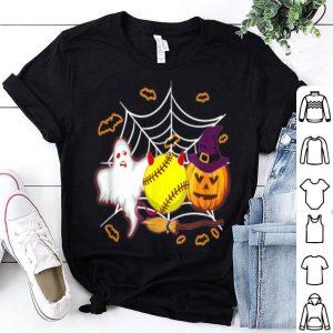 Softball Pumpkin Ghost Halloween Halloween Lover shirt