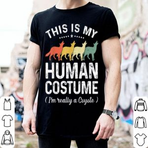 This Is My Human Costume Vintage Coyote Halloween shirt