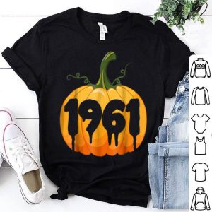Top 1961 56th Birthday Gifts Pumpkin Halloween shirt