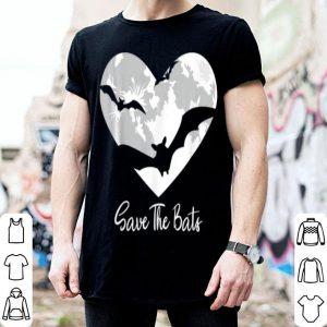 Top Bat Save The Bats Awareness Appreciation Full Moon Halloween shirt