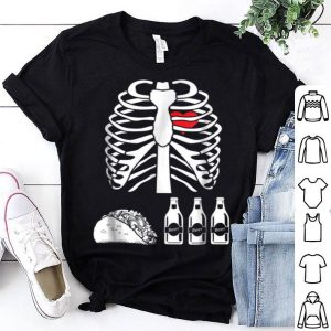 Top Beer Tacos Skeleton X-ray Funny Halloween Costume shirt