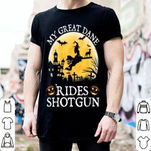Top Belgian Great Dane Rides Shotgun Halloween Costume shirt