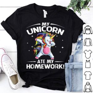 Top Unicorn Ate My Homework Back To School for Girls shirt