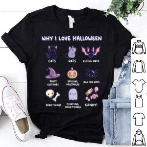 Why I Love Halloween Halloween Emoji Collection shirt