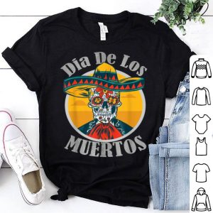 Awesome Dia De Los Muertos Day Of The Dead Skull Costume Halloween shirt