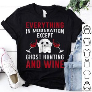 Awesome Ghost Hunting Halloween Hunter Love Wine Adventures Costume shirt
