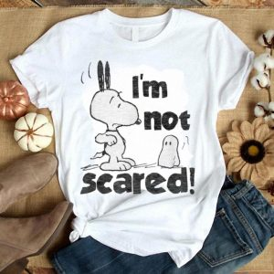 Awesome Peanuts Halloween Snoopy I'm Not Scared shirt