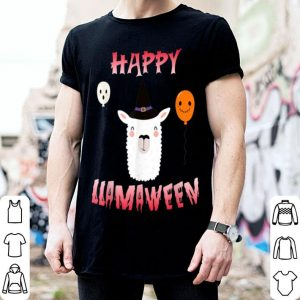 Beautiful Cool Llama Witch costume halloween Happy Llamaween shirt