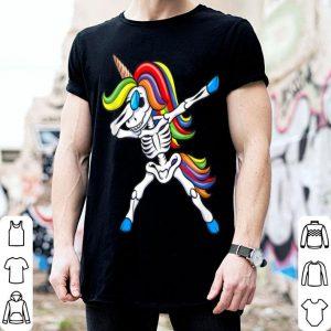 Beautiful Dabbing Skeleton Unicorn Kids Girls Halloween Gift Dab shirt