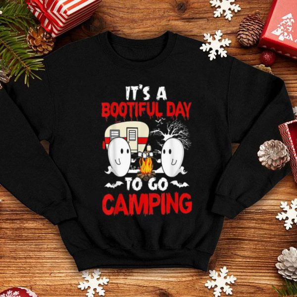 Beautiful It's A Bootiful Day To Go Camping Funny Halloween Gift shirt