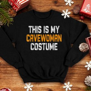Beautiful This Is My Cavewoman Costume Tee Halloween Simple Sarcastic shirt