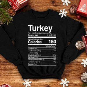 Beautiful Turkey Nutrition Funny Thanksgiving Food Costume Dark shirt