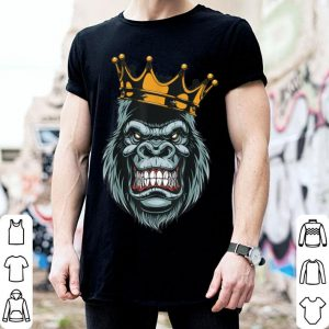Funny Gorilla King ferocious gorilla on with crown Halloween shirt