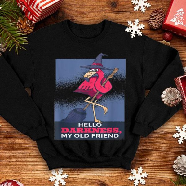 Funny Halloween Flamingo Witch, Scary Party Funny Broom Gift shirt