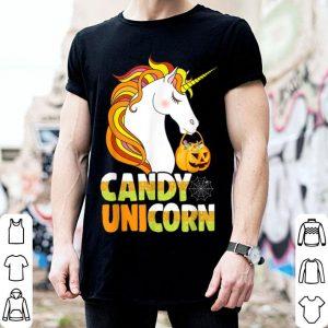 Hot Cute Candy Corn Unicorn Halloween Girls Outfit shirt