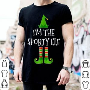Hot I'm The Sporty Elf Matching Family Group Christmas shirt