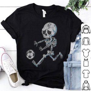 Hot Skeleton Soccer Halloween Boys Girls Kids Men shirt