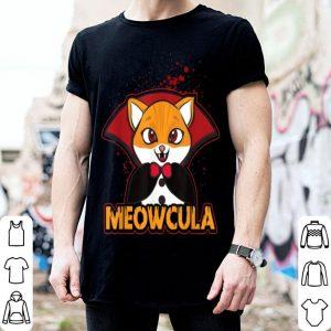 Nice Meowcula Funny Cat Vampire Dracula Halloween Kitty shirt