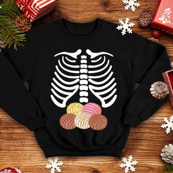 Nice Skeleton Rib Cage with Mexican Pan Dulce Concha shirt