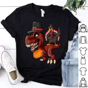 Nice Thanksgiving Day T-rex Dinosaur Gobble Dabbing Turkey Lover shirt