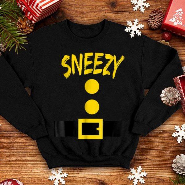 Official Dwarf Costume - Funny Halloween Gift Idea - Sneezy shirt