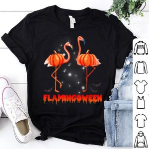 Official Halloween Custome Flamingo Flamingween pumpkin shirt