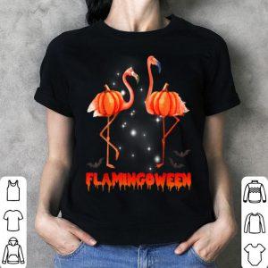 Official Halloween Custome Flamingo Flamingween pumpkin shirt
