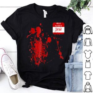 Official Hello My Name Is Jason-Funny Halloween Costume shirt