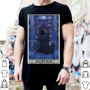 Official Justice Tarot Card Grim Reaper Halloween Gothic Witch Gift shirt